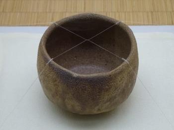 191115荒川豊蔵資料館18、黄瀬戸茶碗.JPG