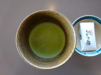 200103杉本美術館09、抹茶と知多のなぎさ餅.JPG