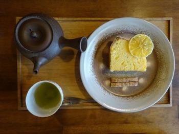 200309TSUNEZUNE常々13、かりがね茶とレモンのパウンドケーキ.JPG