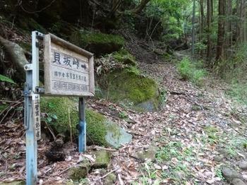 200522茶山調査「菅笠日記10日目行程」05、貝坂峠道標.JPG