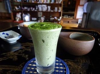 200731かぶせ茶カフェ07、万次郎かぶせ茶ババロア.JPG