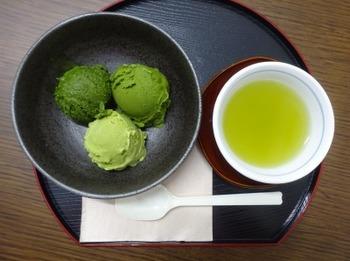 200810いび茶の里05、三種の抹茶アイス.JPG