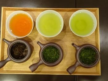 200908深緑茶房「伊勢茶の勉強会」01、和紅茶・萎凋茶・普通煎茶.JPG