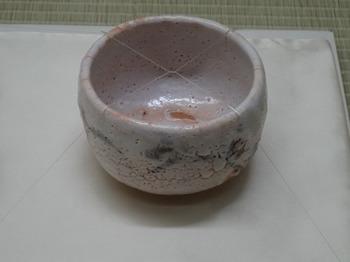 s_190524荒川豊蔵資料館16、志野茶碗銘瑞雲(昭和35年、豊蔵作).JPG