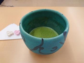 s_190629とうしん美濃陶芸美術館07、加藤賢司「トルコ青茶盌」.JPG